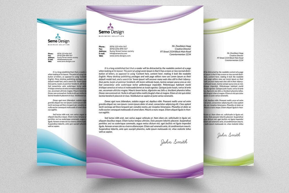 Business Letterheads Psd  Template example image 1