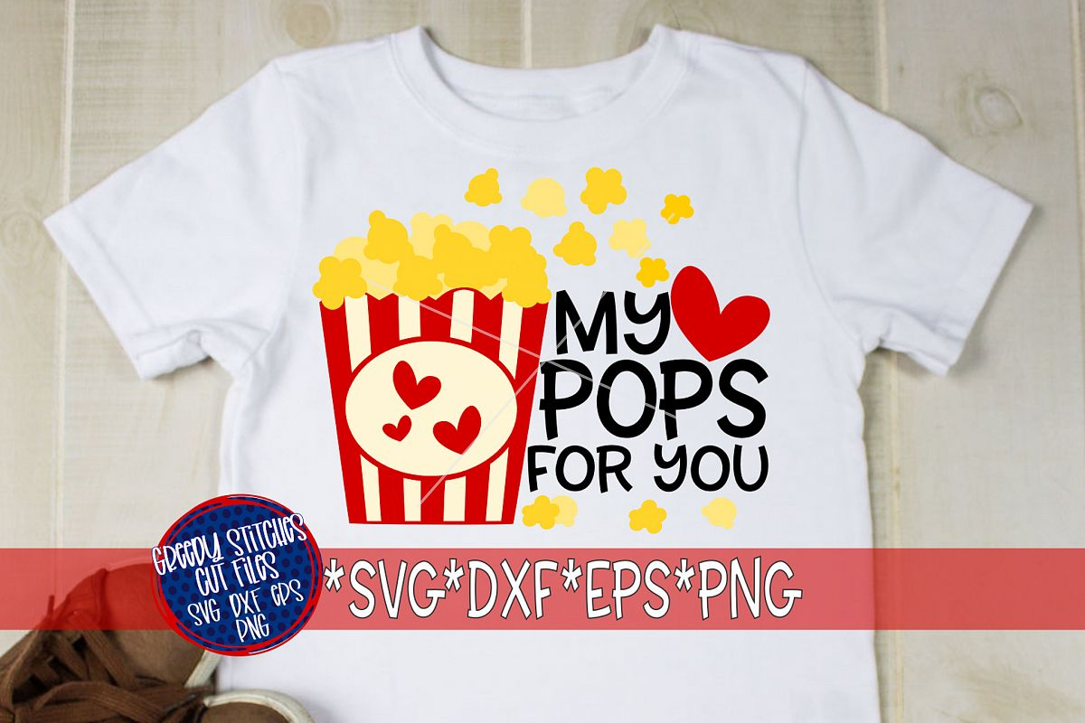 Valentine's Day |My Heart Pops For You SVG DXF EPS example image 1