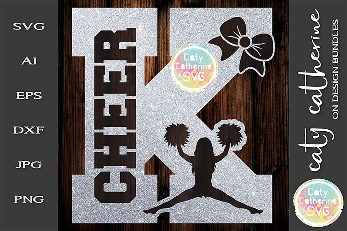 Letter K Cheerleading Monogram Letters SVG Cut File example image 1