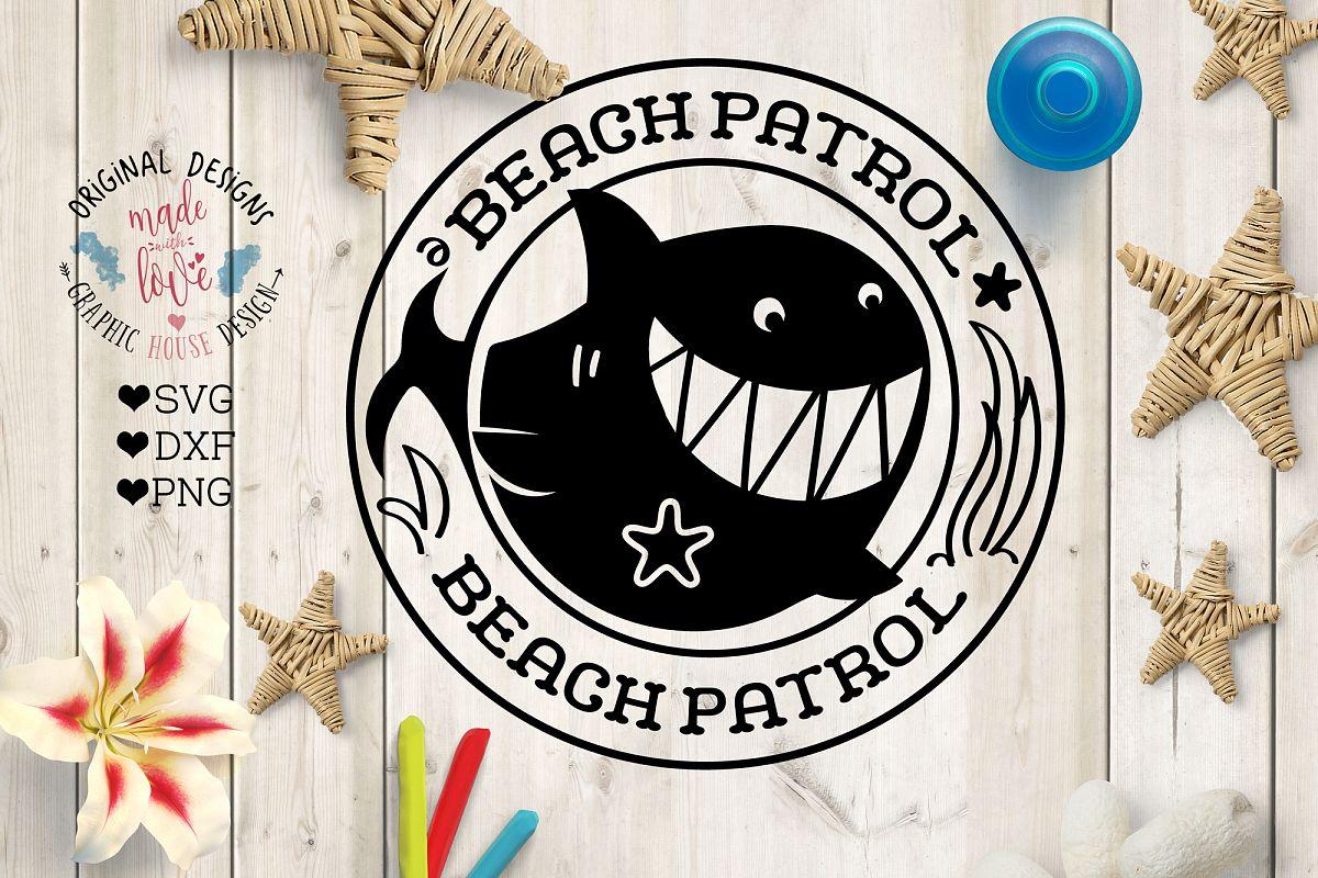 Shark Beach Patrol Cut File example image 1