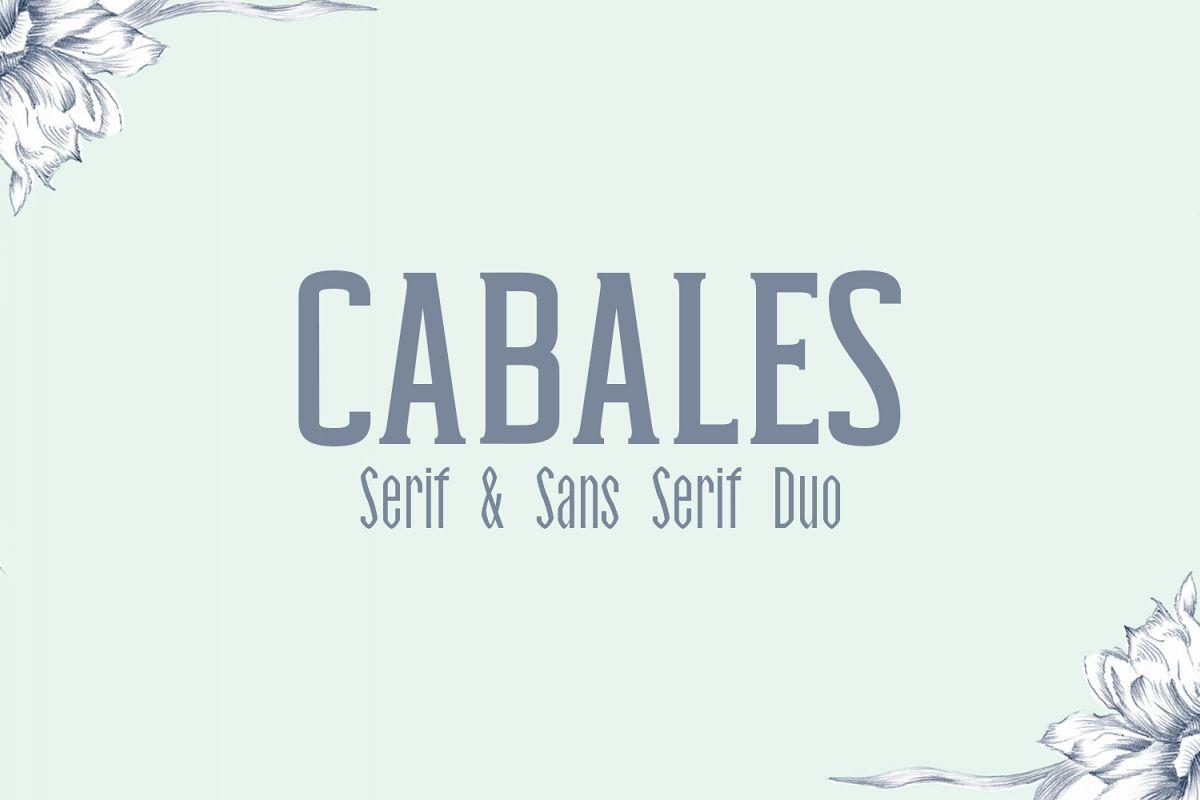 Cabales Duo Font | Bonus Freebie example image 1