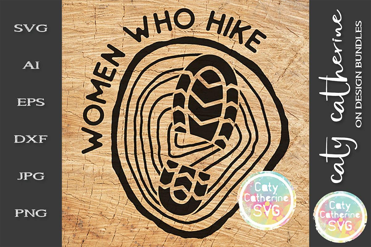 Women Who Hike SVG Hiking Cut File example image 1