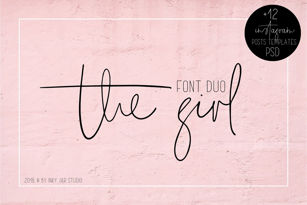 The Girl Font Duo 12 Instagram Post Templates example image 1