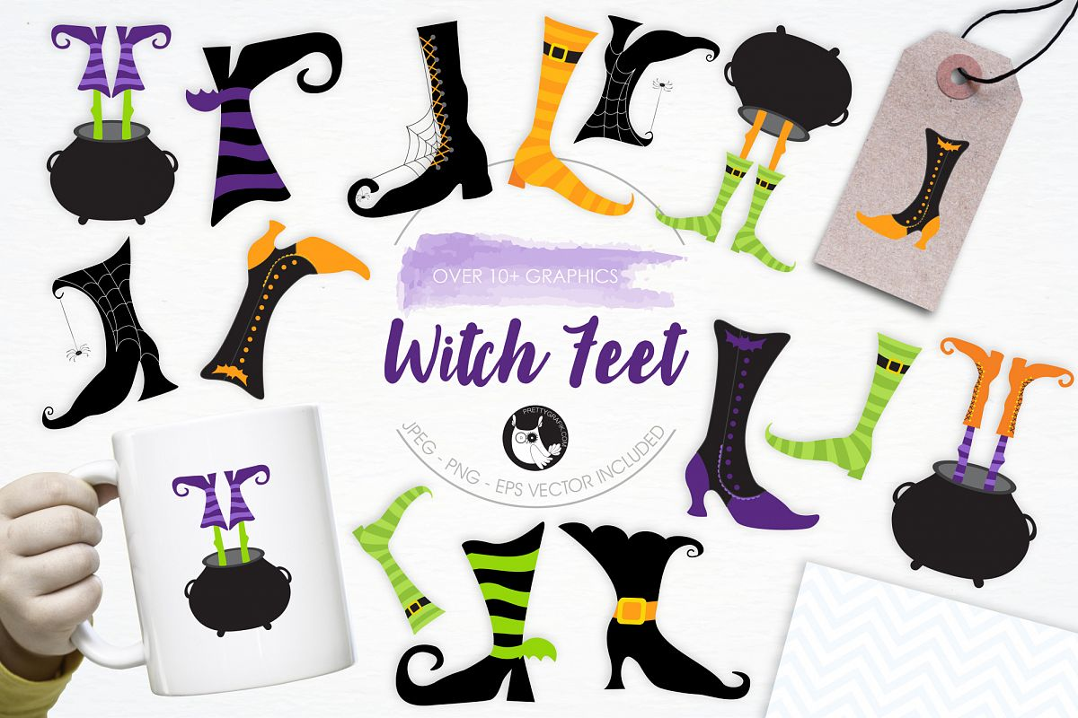 Witch Feet graphics and illustrations example image 1
