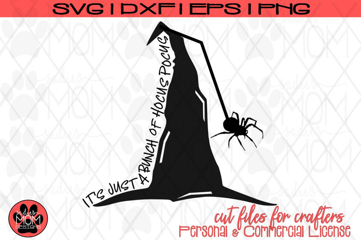 Witch's Hat Cut File | Halloween Design | Hocus Pocus SVG example image 1