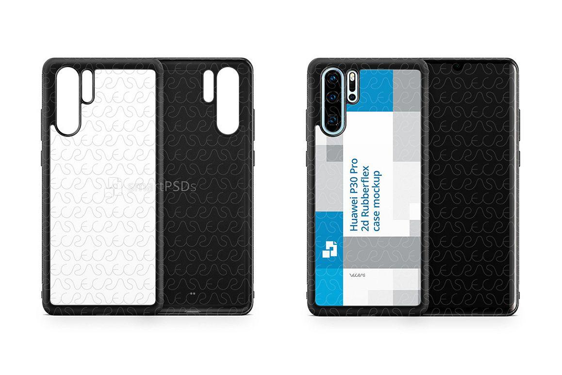 Huawei P30 Pro 2d RubberFlex Case Design Mockup 2019 example image 1