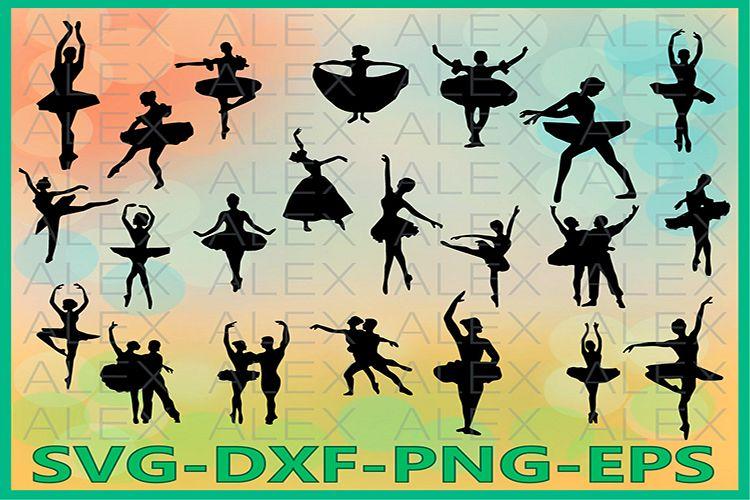 Ballet SVG Files, Ballet silhouettes, Ballerina SVG example image 1