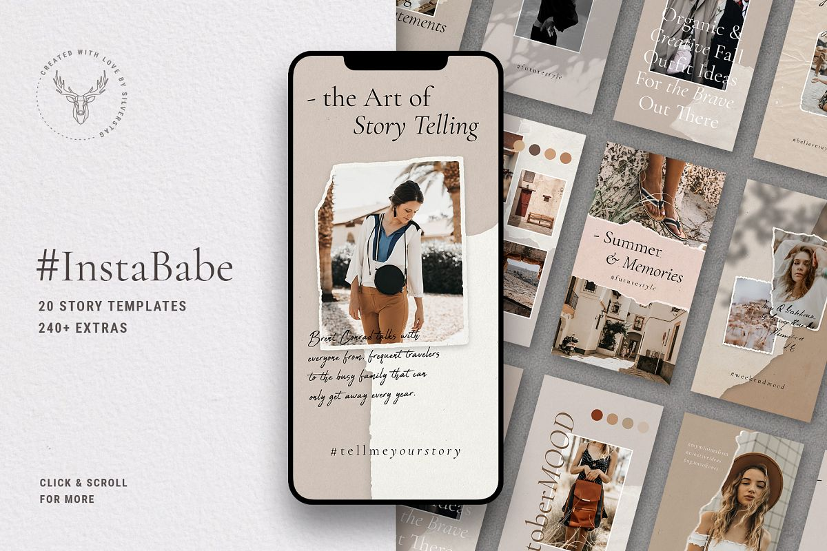 #InstaBabe - Creative & Modern Instagram Story Templates example image 1