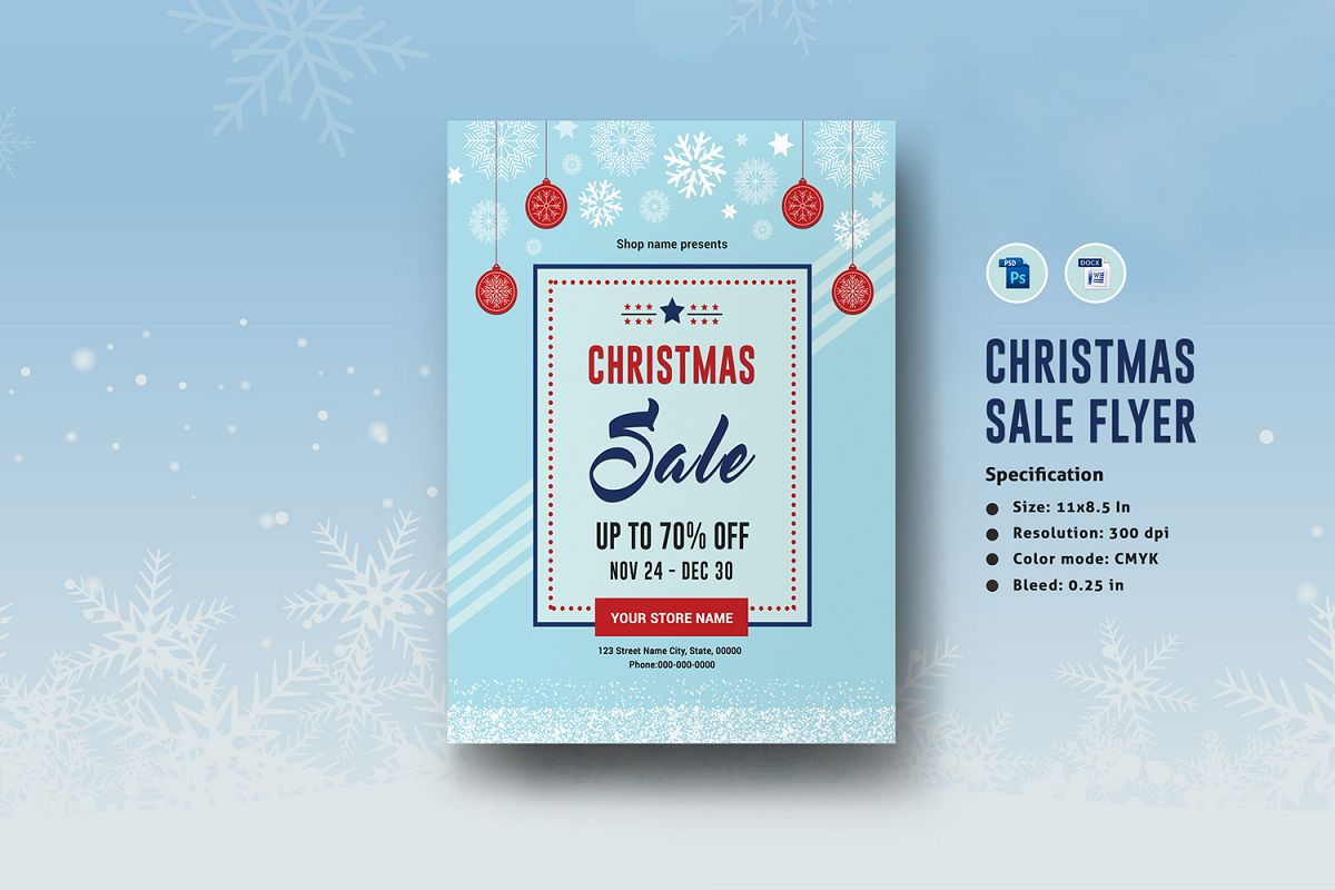 Christmas Holiday Sale Flyer example image 1