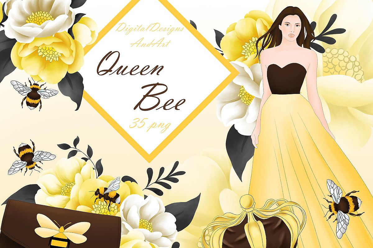 Queen bee clipart example image 1