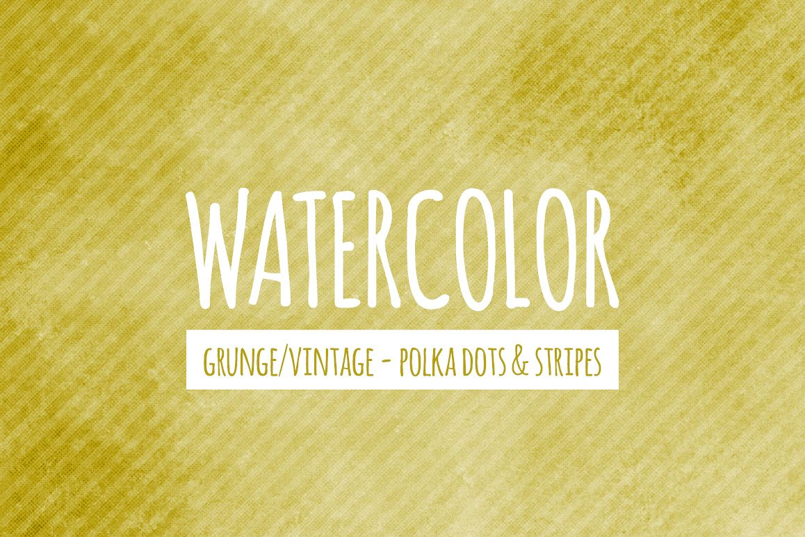 Watercolor Texture Backgrounds With Dots & Stripes - Yellow example image 1