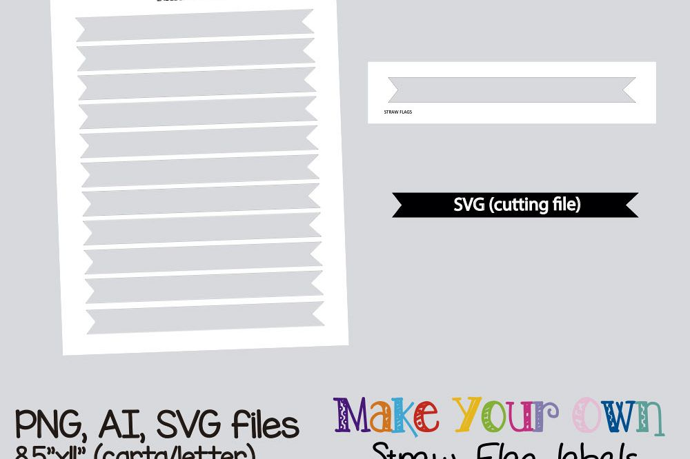 straw flag template collage sheet template digital template