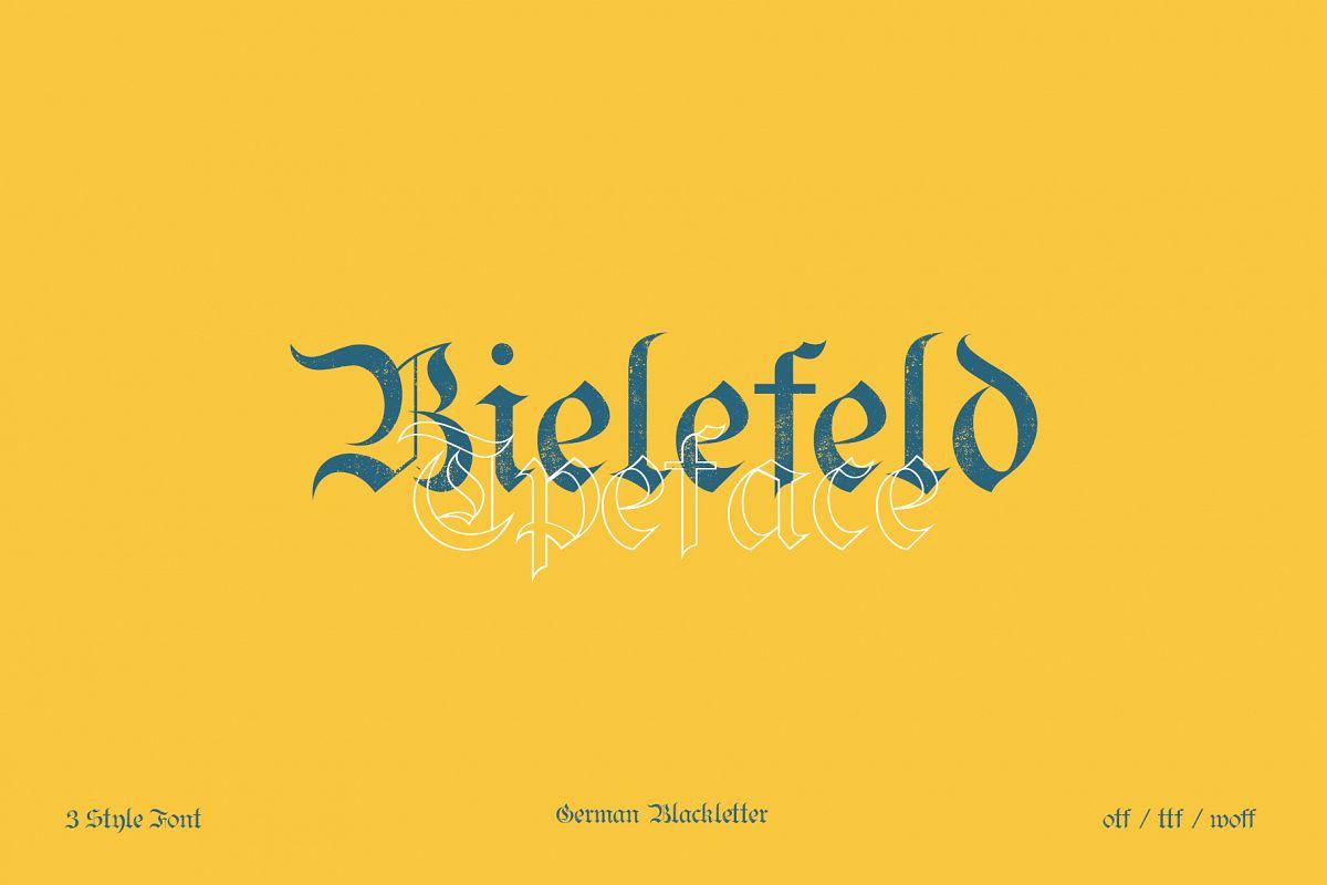 Bielefeld Typeface font example image 1