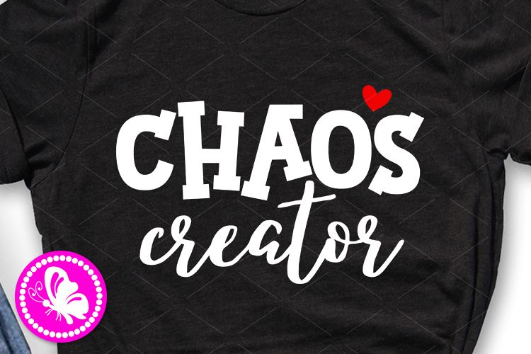 Chaos creator svg Baby girl boy Kids shirts svg design example image 1