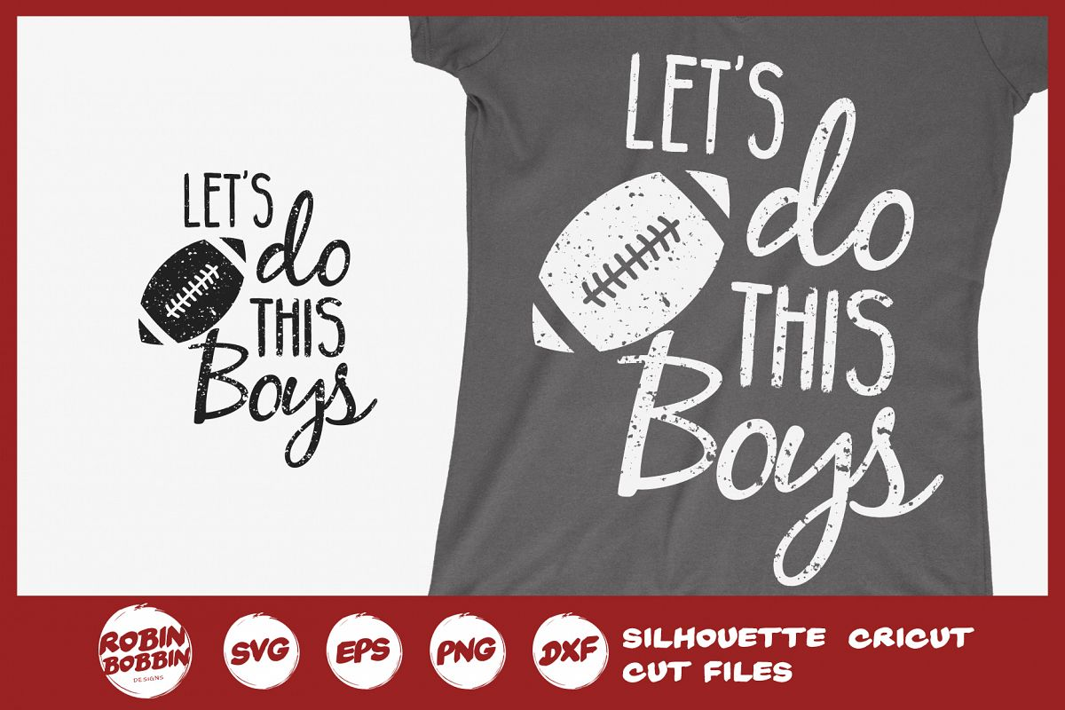 Let's Do This Boys SVG - Football Mom SVG example image 1