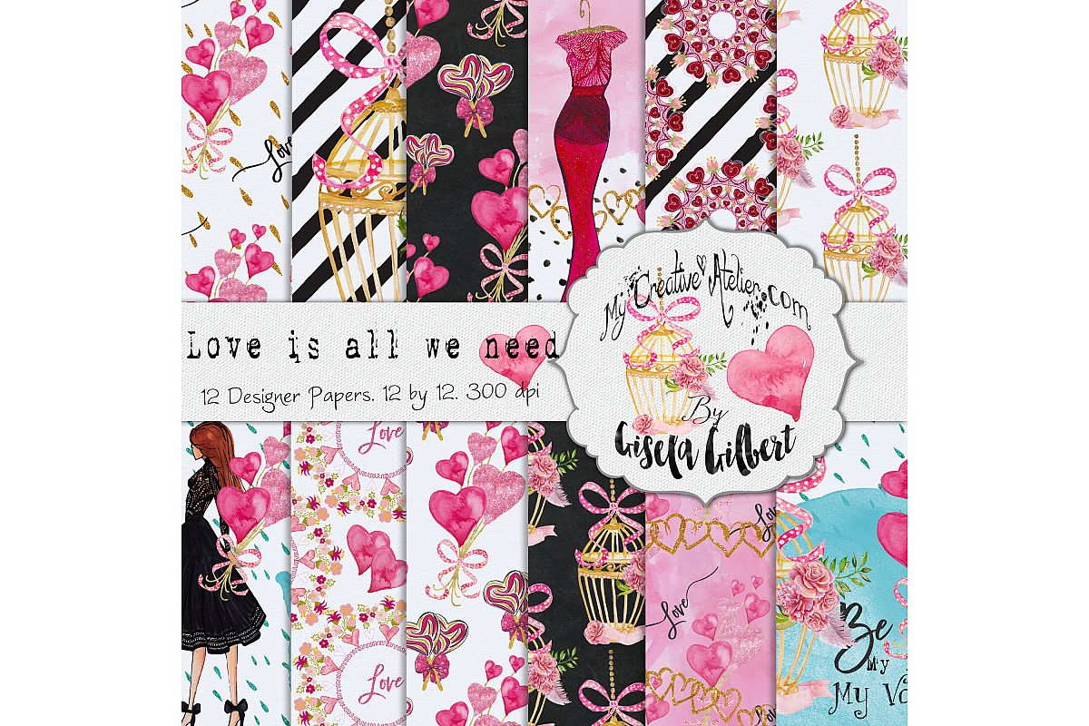 Valentine Digital Paper example image 1
