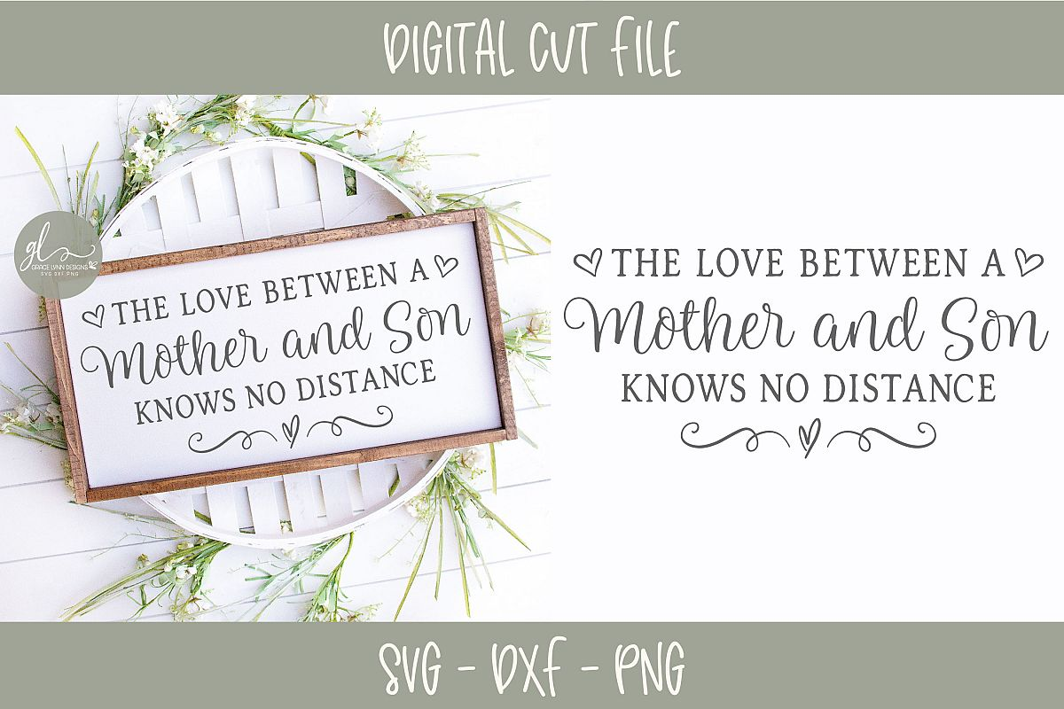 The Love Between A Mother And Son - SVG Cut File example image 1