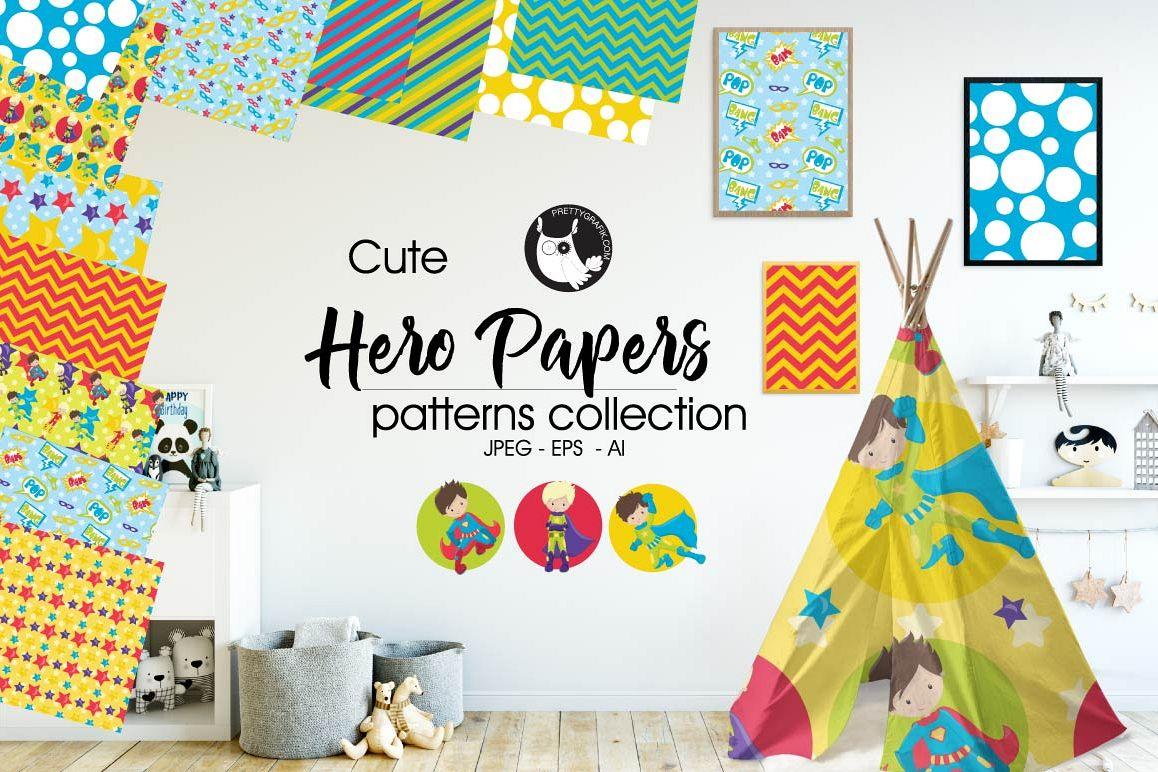Hero-papers, digital papers example image 1