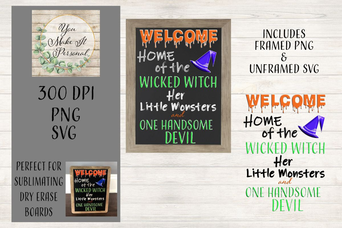 Home Of The Wicked Witch Sign and SVG example image 1