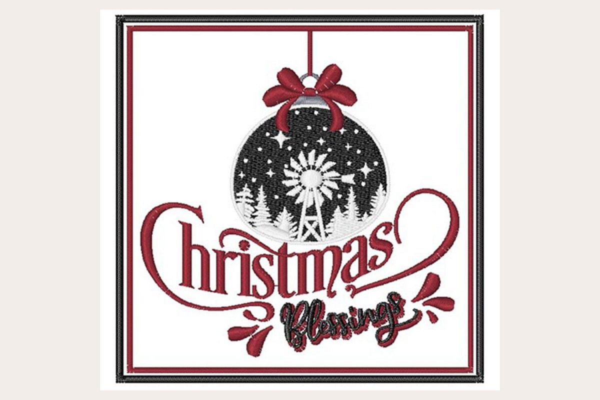 Christmas Blessings - Machine Embroidery Design example image 1