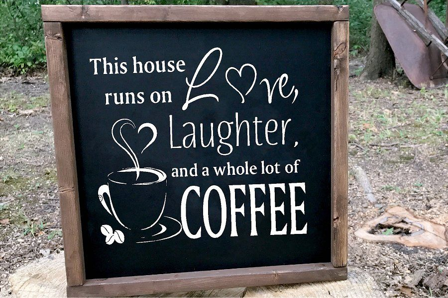 This house runs on Love Laughter Coffee SVG example image 1