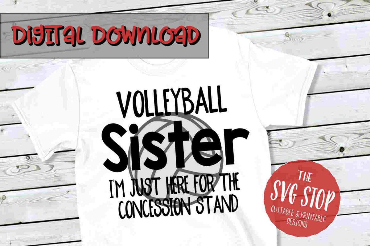 Volleyball Sis SVG PNG DXF example image 1