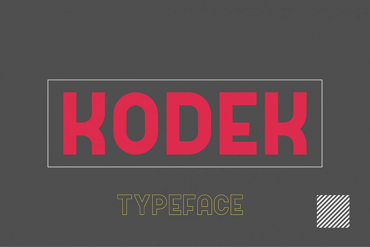 Kodek Typeface example image 1