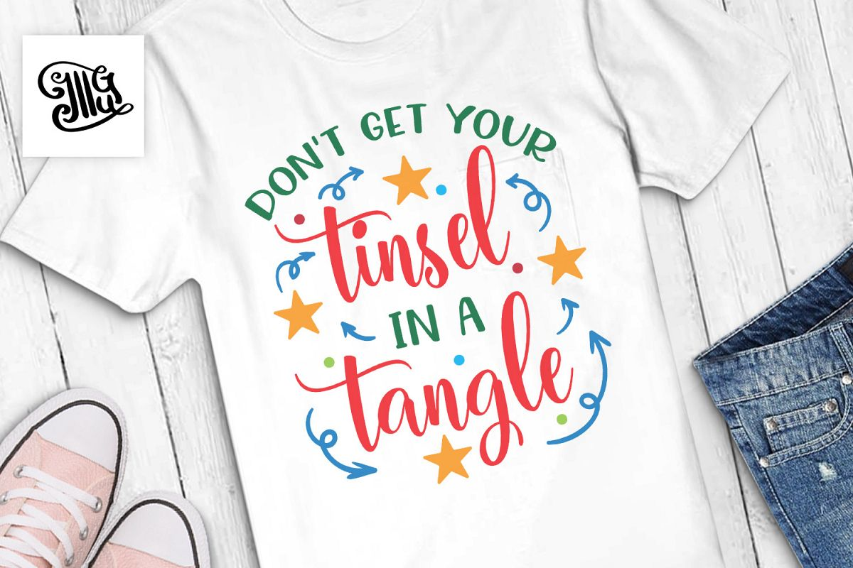Don't get your tinsel in a tangle Christmas sayings example image 1