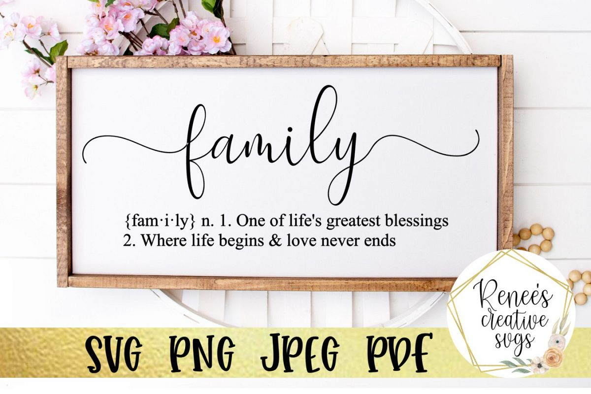 Definition of Family | Quote | SVG Cutting File example image 1