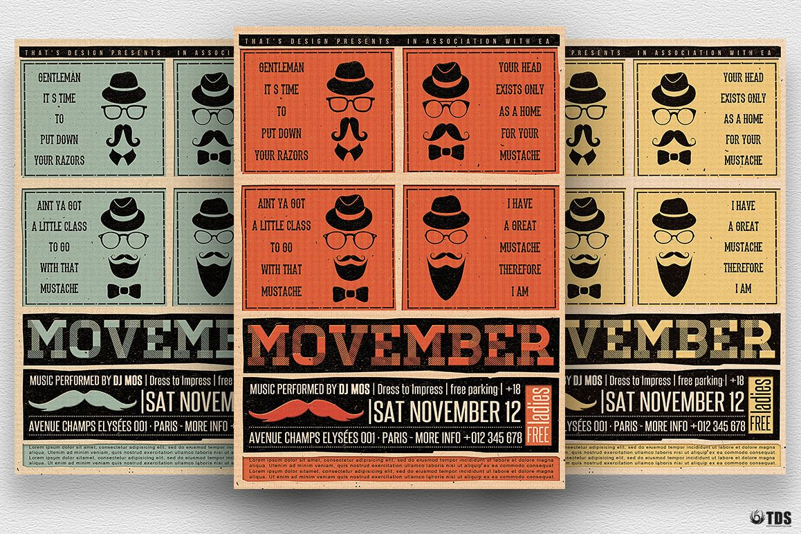 Movember Flyer Template V1 example image 1