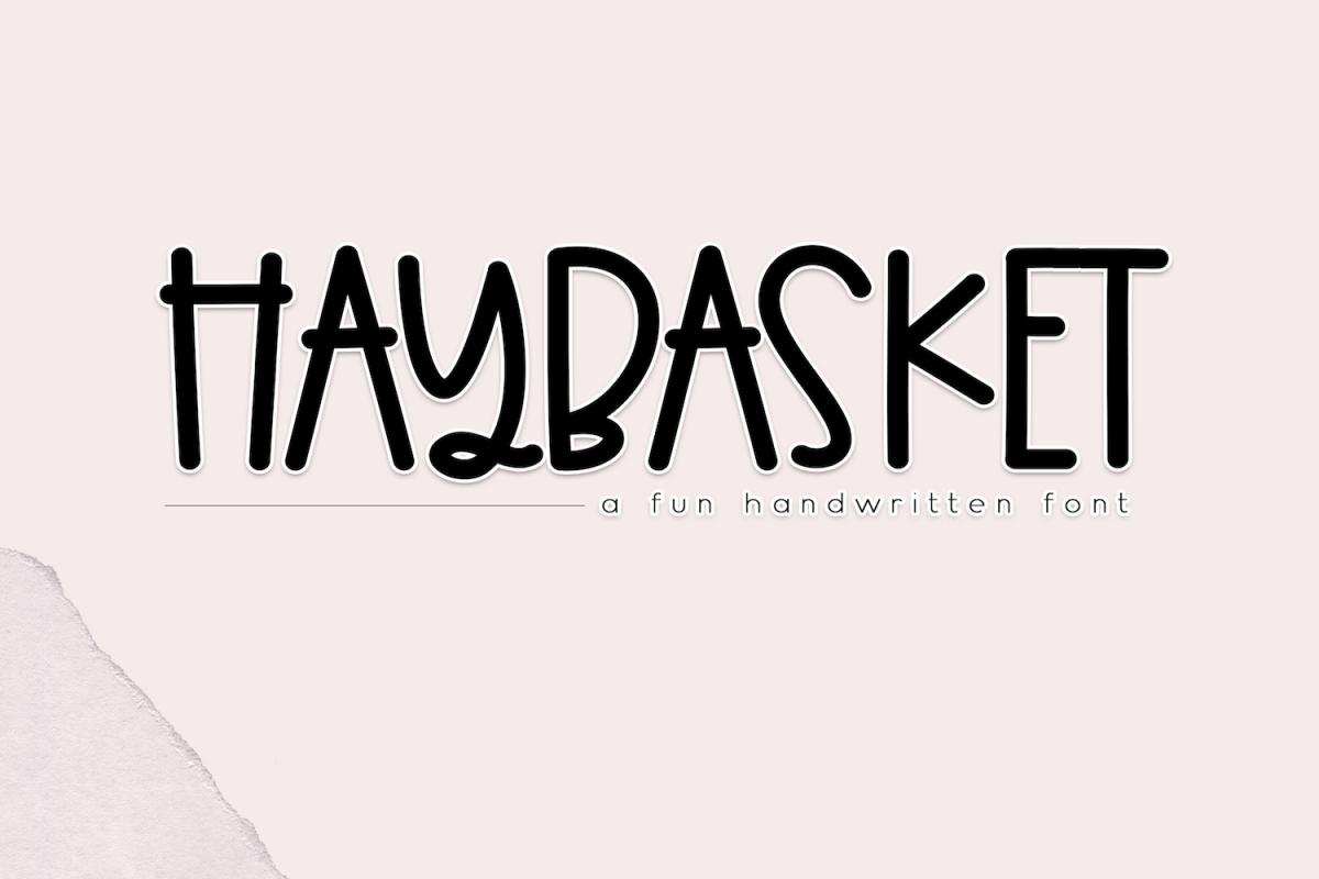 Haybasket - A Fun Handwritten Font example image 1