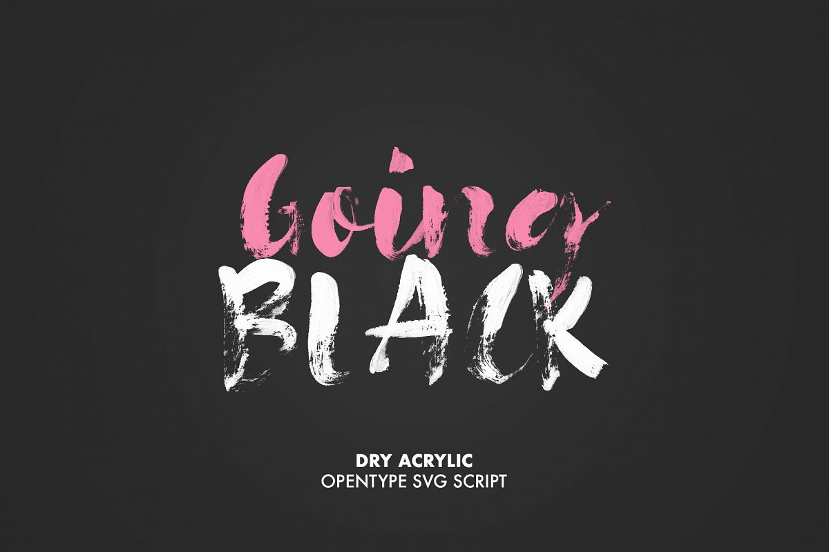 Going Black SVG font example image 1