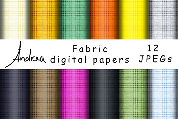 Fabric digital papers example image 1
