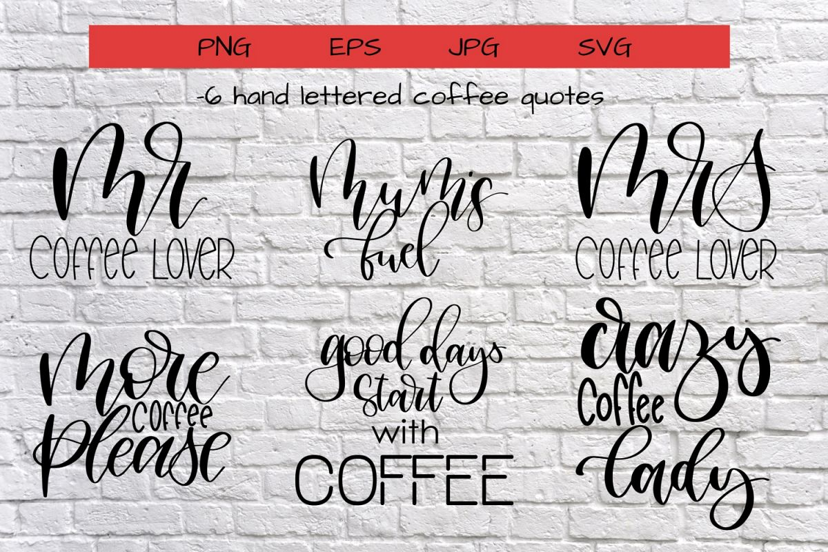 Coffee quotes bundle example image 1