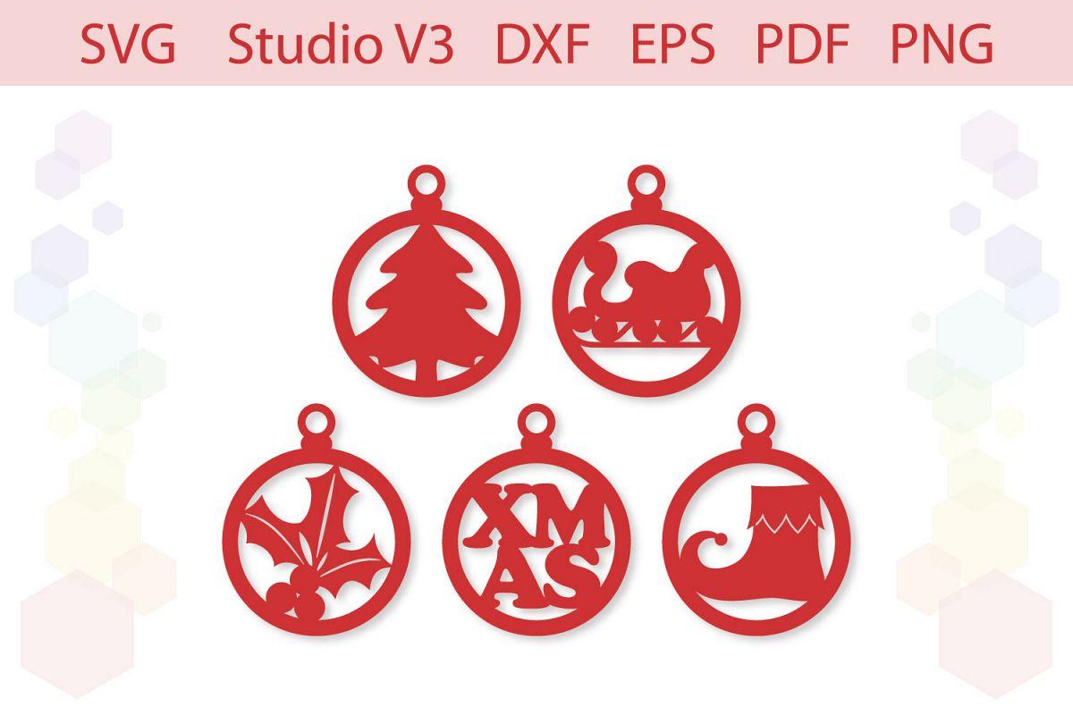 Christmas Ornaments Christmas gift tags cut file example image 1