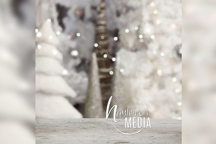 Winter Christmas Background Tabletop Mock Up, JPG Mockup example image 1