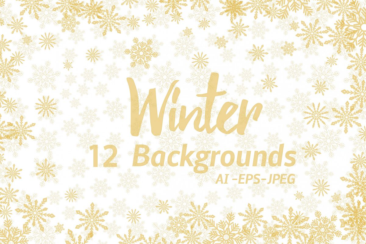 Winter Golden Backgrounds example image 1
