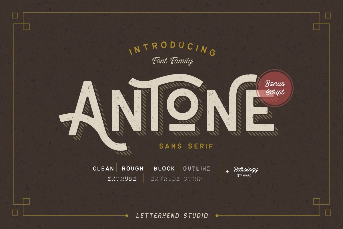 Antone Family - 7 FONTS example image 1