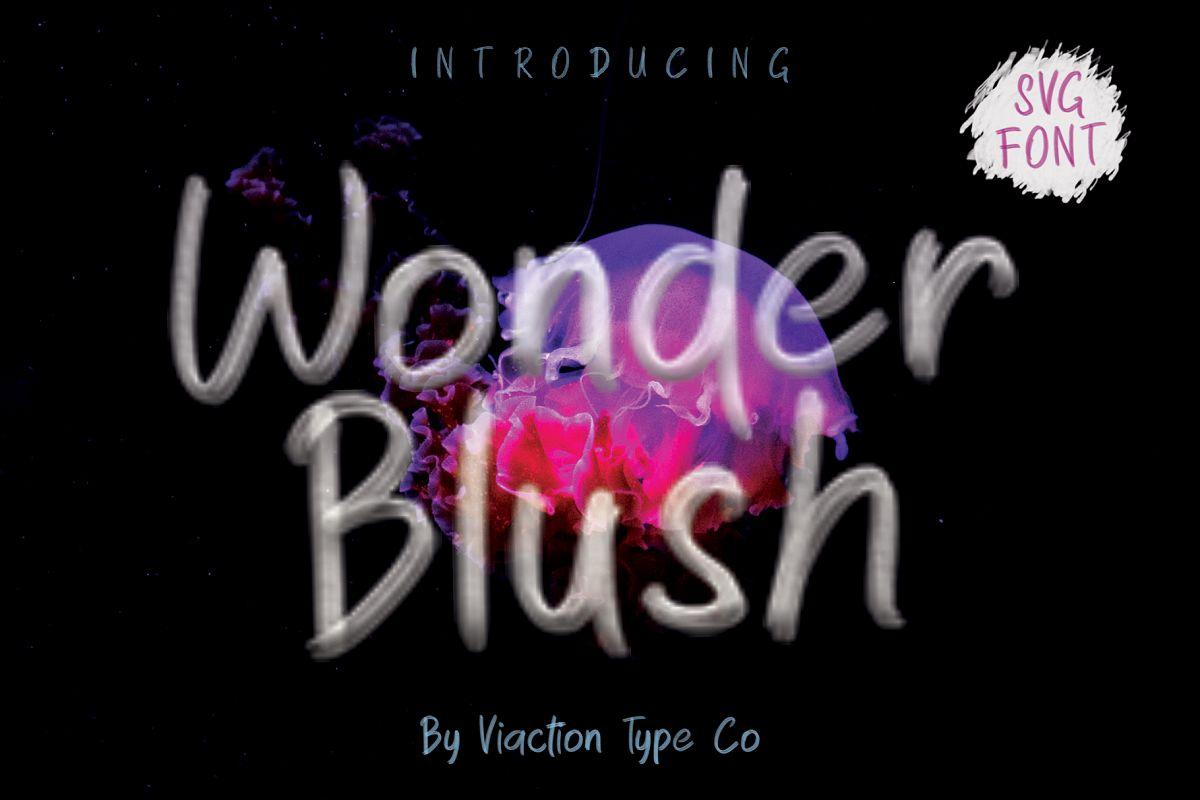 Wonder Blush SVG Font example image 1