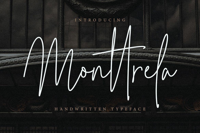 Monttrela Handwritten Font example image 1