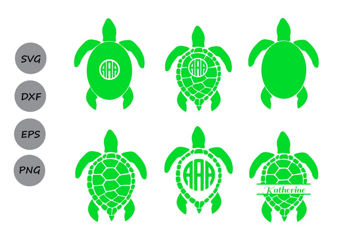 Sea Turtle Monogram Svg Sea Turtle Svg Sea Turtle Monogram Turtle