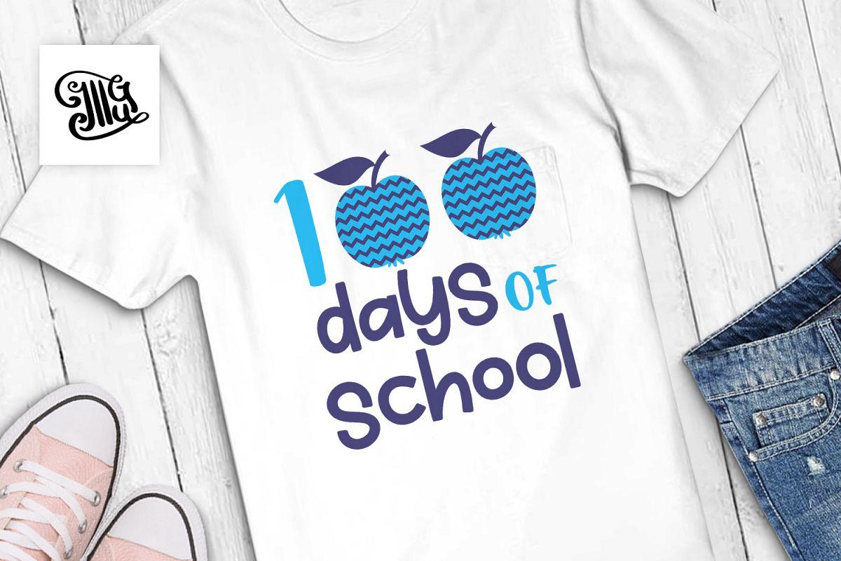 100 Days of school boys svg example image 1
