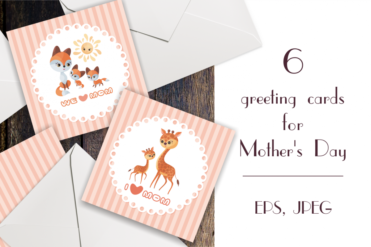 Mothers day greeting cards with cute animals mothers day greeting cards with cute animals example image 1 m4hsunfo