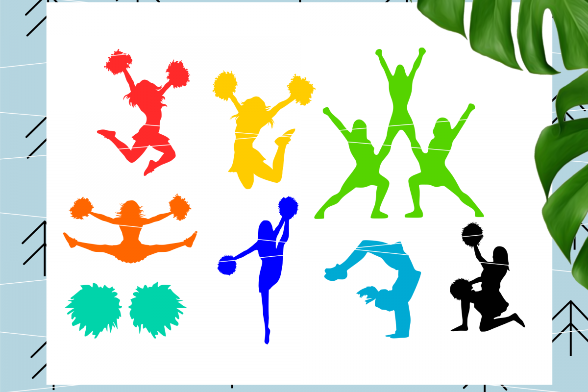 Cheerleader svg example image 1