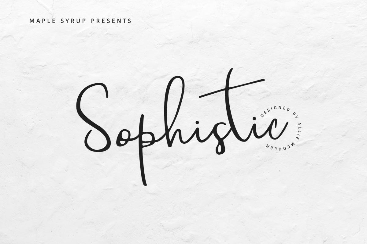 Sophistic script example image 1