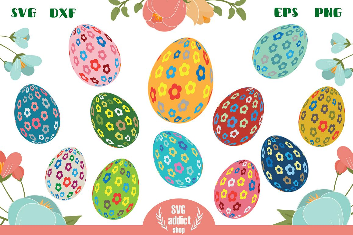 12 Easter Eggs Cut Files Vol 01 example image 1