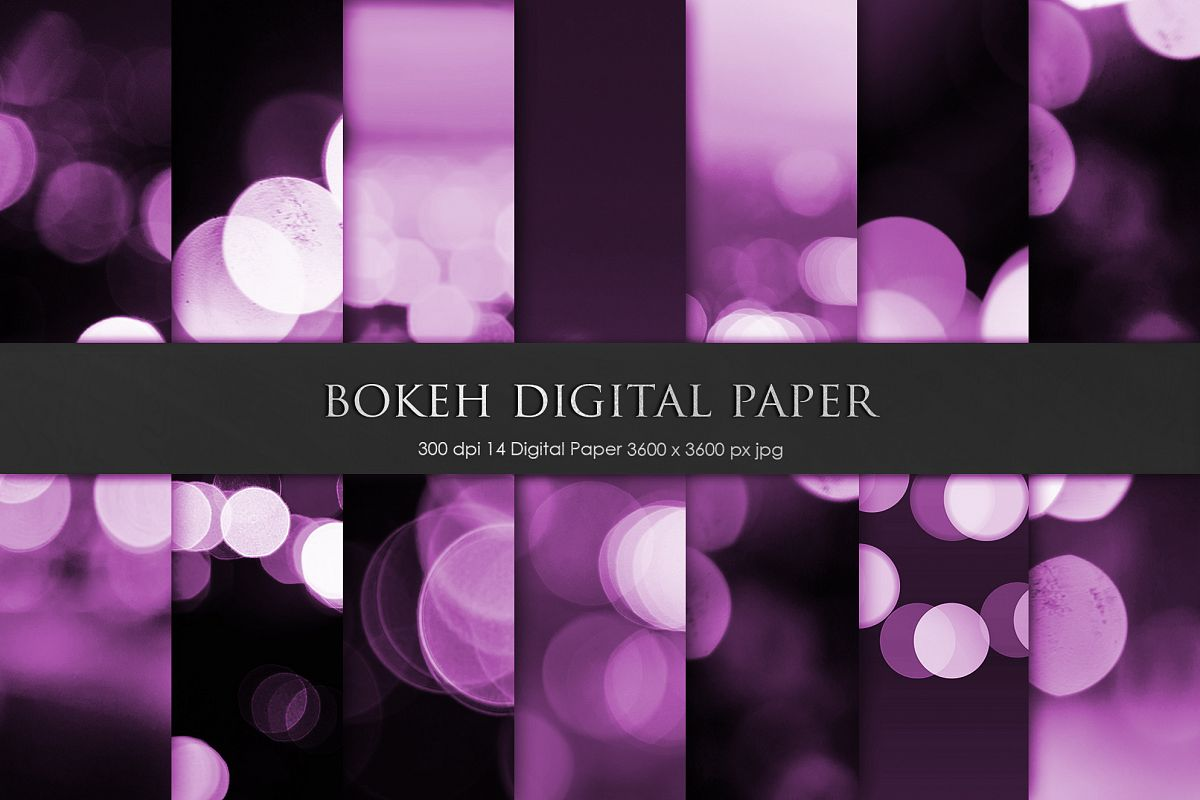 Bokeh Digital Paper, Backgrounds example image 1