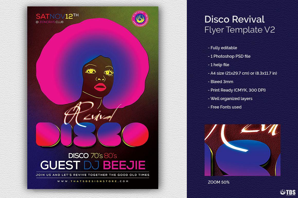 Disco Revival Flyer Template V2 by TDSt | Design Bundles