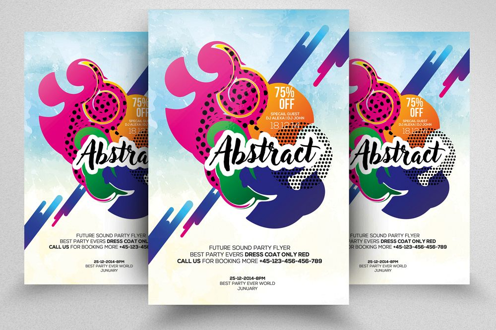 Abstract Flyer/ Poster Template example image 1