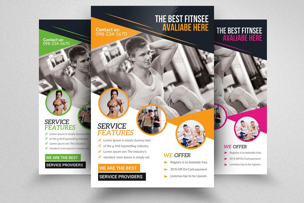 Fitness Flyer Template | Body Fitness Gym Flyer Template